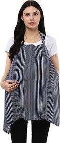 Wobbly Walk Breastfeeding Cover Feeding Cloak (Blue's White)