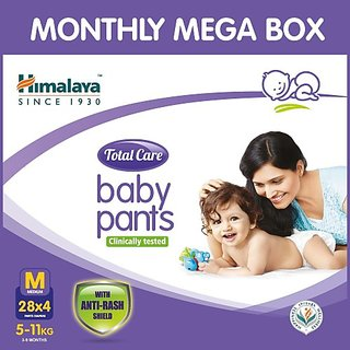 Himalaya Total Care Baby Pants CMB(M) 4NX28's - M (112 Pieces)