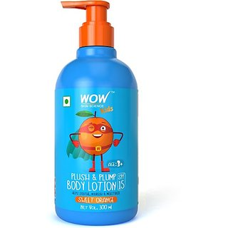 WOW Skin Science Kids Plush's Plump Body Lotion - Sweet Orange - SPF 15 - No Parabens, Mineral Oil, Silicones's Color - 300mL (300 ml)