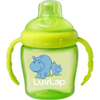 LuvLap Hippo Spout 225ml (Green)