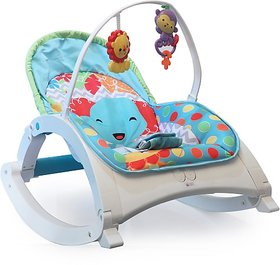 Fiddle Diddle Baby Bouncer Cum Rocker Rocker and Bouncer (Multicolor)