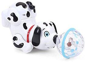 Aaryan Enterprise Dancing Dog with Music Flashing Lights (White)