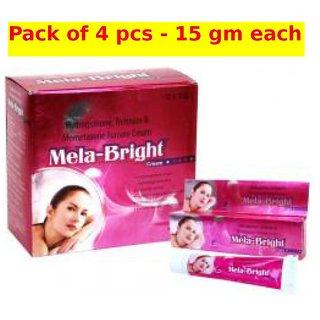 Mela-Bright skin Brighteniong cream (Pack of 4 pcs.) 15 gm each