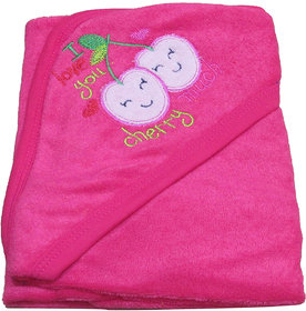 VBaby 3 in 1  Soft Hood 100 Terry cotton wrapper blanket bath towel (0-12 months)
