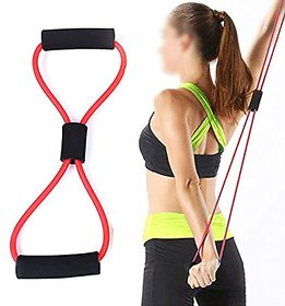 8-Shaped Elastic Pull Rope Yoga Resistance Band for Yoga Pilates PACK of 2