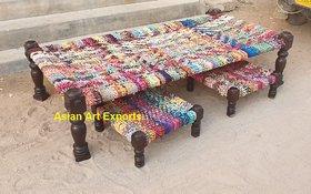 wooden charpai set