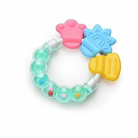 CHILD CHIC Infrant Baby Rattle Teether Toy,BPA-Free Infants Teether Rattle Toy, Colorful Shaking Bell Musical.(GREEN)