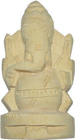Tella Jilledu Ganapathi Hand Carved Natural Ark Ki Jad / Ark Ki Jar Right Trunk Ganesha Vella Erukku Vinayagar