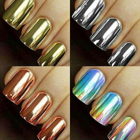 Pack of 3 Packet Chrome Nails 12 Pc. Of Nails in 1 Packet along with Glue