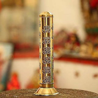 The New Look  Agarbatti Stand, Incense Stick Holder, Puja Accessories  Puja Articles Brass Incense Holder  (Gold)