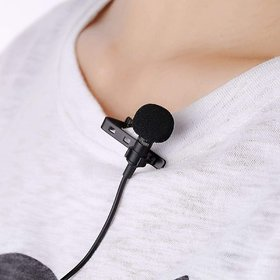 Noise Cancellation Clip Collar Mic Condenser For Youtube Video  Interviews  Lectures  News