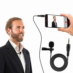 3.5MM Clip On Mini Lapel Lavalier Microphone for Voice Chat, Video Conferencing  Recording