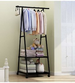 House of Quirk Coat Jacket Hat Hanger Mobile Multi Function Stand Organizer De Clutter Your Doors, Wash Rooms or Re Wear