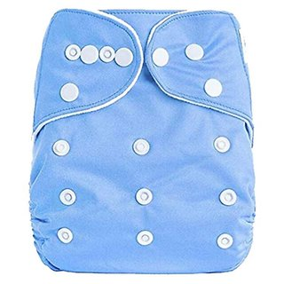 Child Chic Quirk Reusable Baby Washable Cloth Cotton Diaper (BLUE)