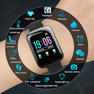 Crystal Digital D13 Clock Wristband Band Sporty Watch Fitness Bracelet Smartwatch