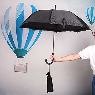 House Of Quirk Daily Necessities Windproof Folding Umbrella with Transparent Protective Cover, Outdoor Portable Travel S