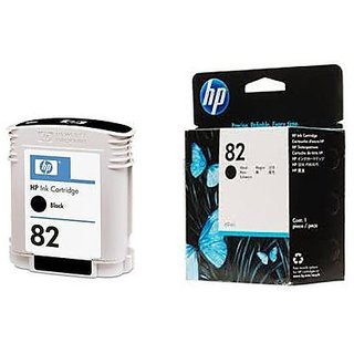 HP 82  Black Ink Cartridge, CH565A