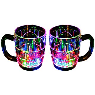Rainbow Magic Color Cup with LED Flashing Light (Fill Water In Glass  See Lights Blinking ) PACK OF 2