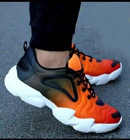 Leegalaxy Men'S Orange Running Shoes