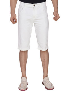MagMatric5 Moon White Denim Shorts DA-6006