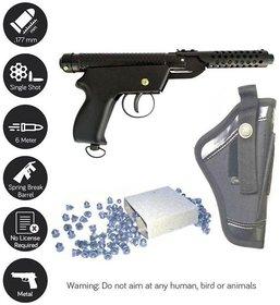 Jain Gift Gallery Bullet Metal Double Spring Air Gun Free 200 Pellets