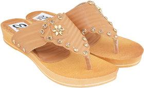 Edee Women Brown Flats Sandal