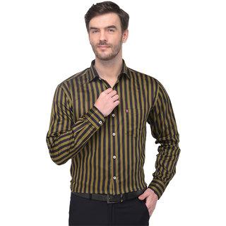 Men's Stripped Shirt-Green
