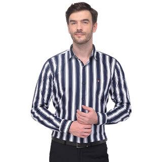 Men's Stripped Shirt-Blue