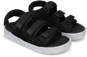 Birde Men's Black Synthetic Sandals