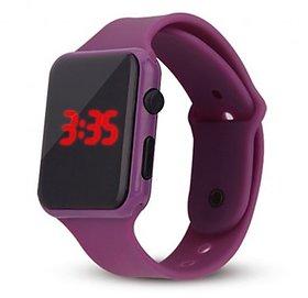 FARP Digital led watch purple colour rubber belt girls watch kids watch
