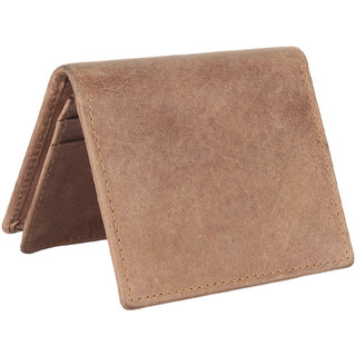 Men Brown Original Leather RFID Card Holder 15 Card Slot 1 Note Compartment