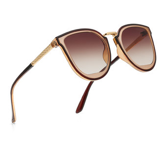 Royal Son UV Protected Over Size Women Sunglasses - Brown