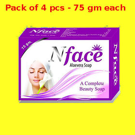 N Face Aloevera soap (Pack of 4 pcs.) - 75 gm Each