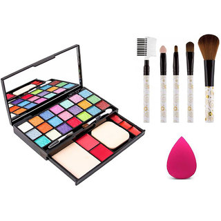 Adbeni 21 Color of Beauty Shades Makeup Kit With Puff & Brushes, GCI784