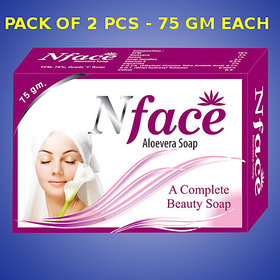 N Face Aloevera soap (Pack of 2 pcs.) - 75 gm Each