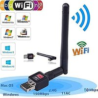 802.IIN Wifi Wireless Mini Adapter 600MB/S USB 2.0  Bla