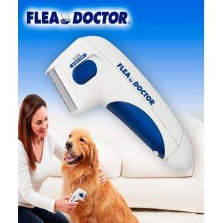 TRUESHOP  Electric Flea Doctor Electric Pets Flea Remover Comb Cat's  Dog's Lice Remover Pesticides Naturally Kill Tick