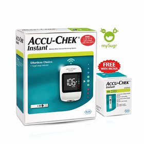 Accu-Chek Instant glucometer with 10 test strips FREE (Wireless meter)
