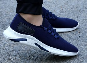Kimba Men Dark Blue Running Sport Shoes
