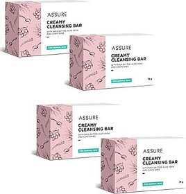 New Assure Creamy Cleansing Bar Pack Of 4 (75 gm )