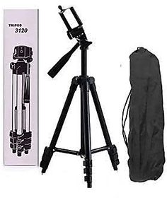 Crystal Digital 3120 3-Dimensional Head Foldable Camera Tripod Stand with Mobile Clip Holder Bracket for Tiktok Video