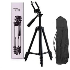 Crystal Digital 3120 3-Dimensional Head Foldable Camera Tripod Stand with Mobile Clip Holder Bracket