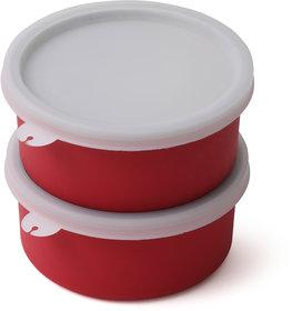 RK Handicraft Red Stainless Steel Lunch Box