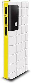 Raptech RT-109 Power 30000mAh Lithium-ion Power Bank/Fast Charging Power Bank 3 Output Power Bank (White-Yellow)