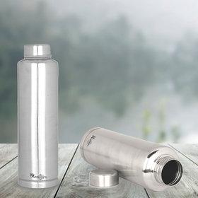 RK Handicraft BOTTLE Silver 1000 mL Stainless Steel Fridge Bottle set of 2