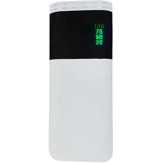 Raptech RT-175 Power 25000mAh Lithium-ion Power Bank/Fast Charging Power Bank 2 Output Power Bank (White)