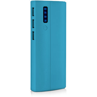 Raptech RT-107 Blue 30000mAh Lithium-ion Power Bank/Fast Charging 3 Output Power Bank (No Warranty)