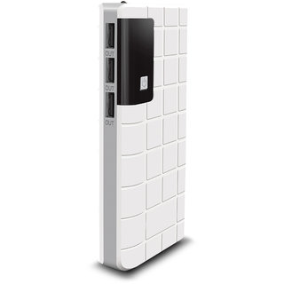 Raptech RT-109 Power 30000mAh Lithium-ion Power Bank/Fast Charging Power Bank 3 Output Power Bank (White-Grey)
