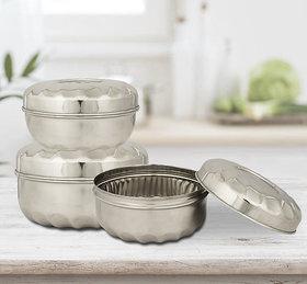 RK Handicraft Silver Lunch Box
