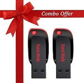 Sandisk Cruzer blade  Flash Drive 32 GB Pendrive (Pack of 2)